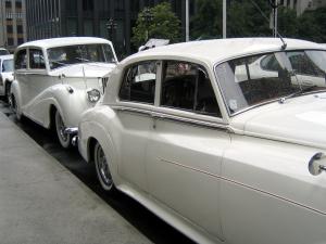 White Wedding Retro Cars